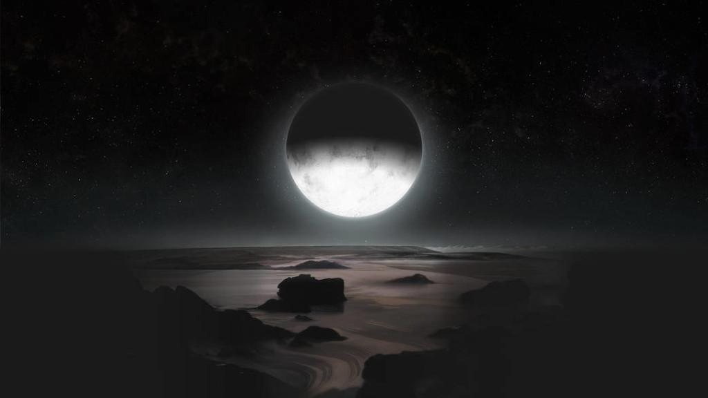 月光下的冥王星